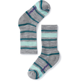 Smartwool Striped Hike Light Socks Children grey/teal
